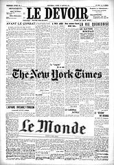 Le Devoir, The New York Times, Le Monde