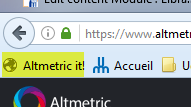 Altmetrics It Bookmarklet