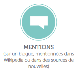 Sources des altmetrics: mentions