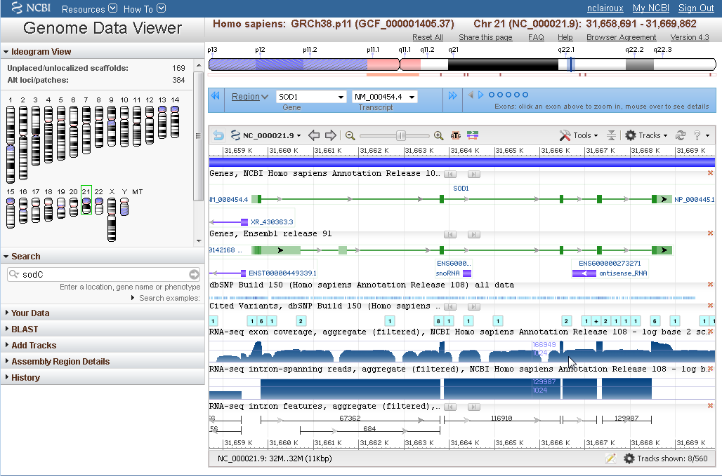 Genome Data Viewer